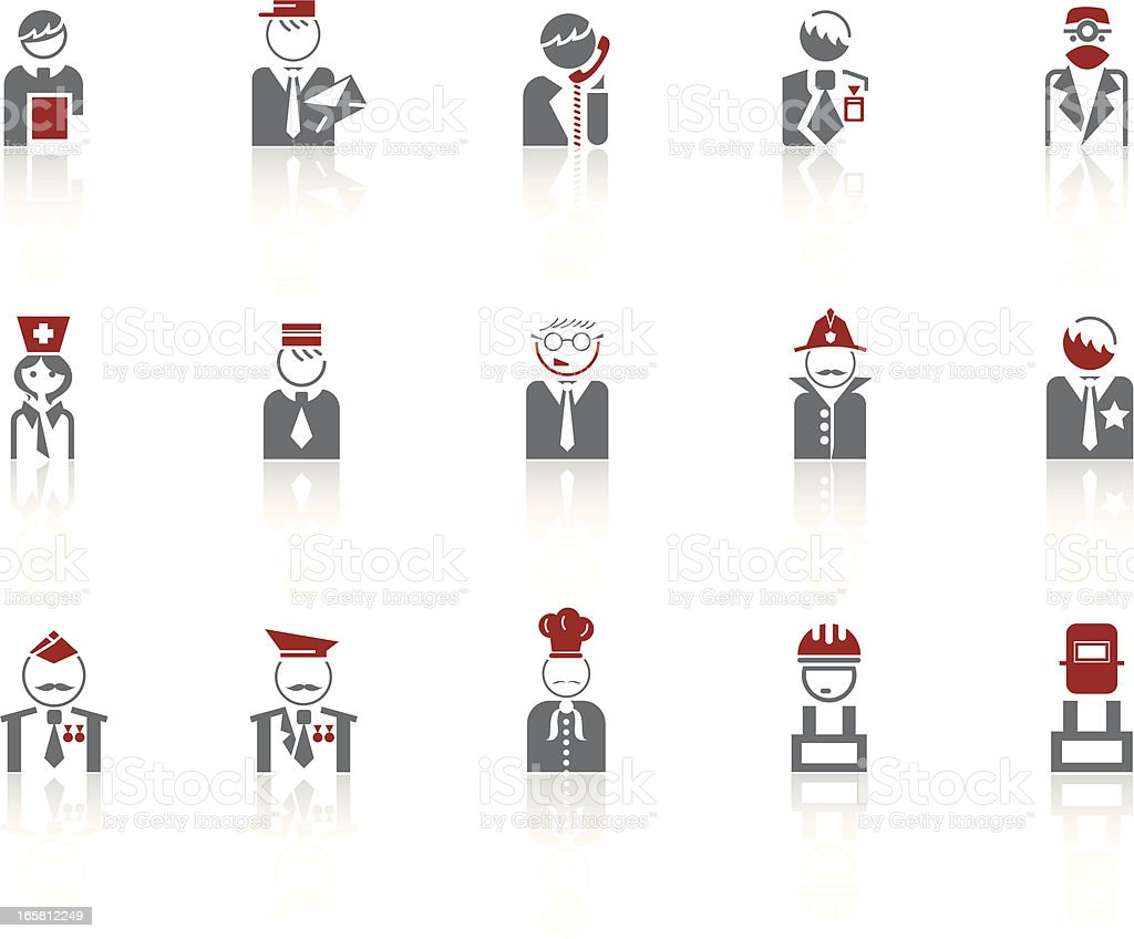 Simple icons – Professions vector art illustration