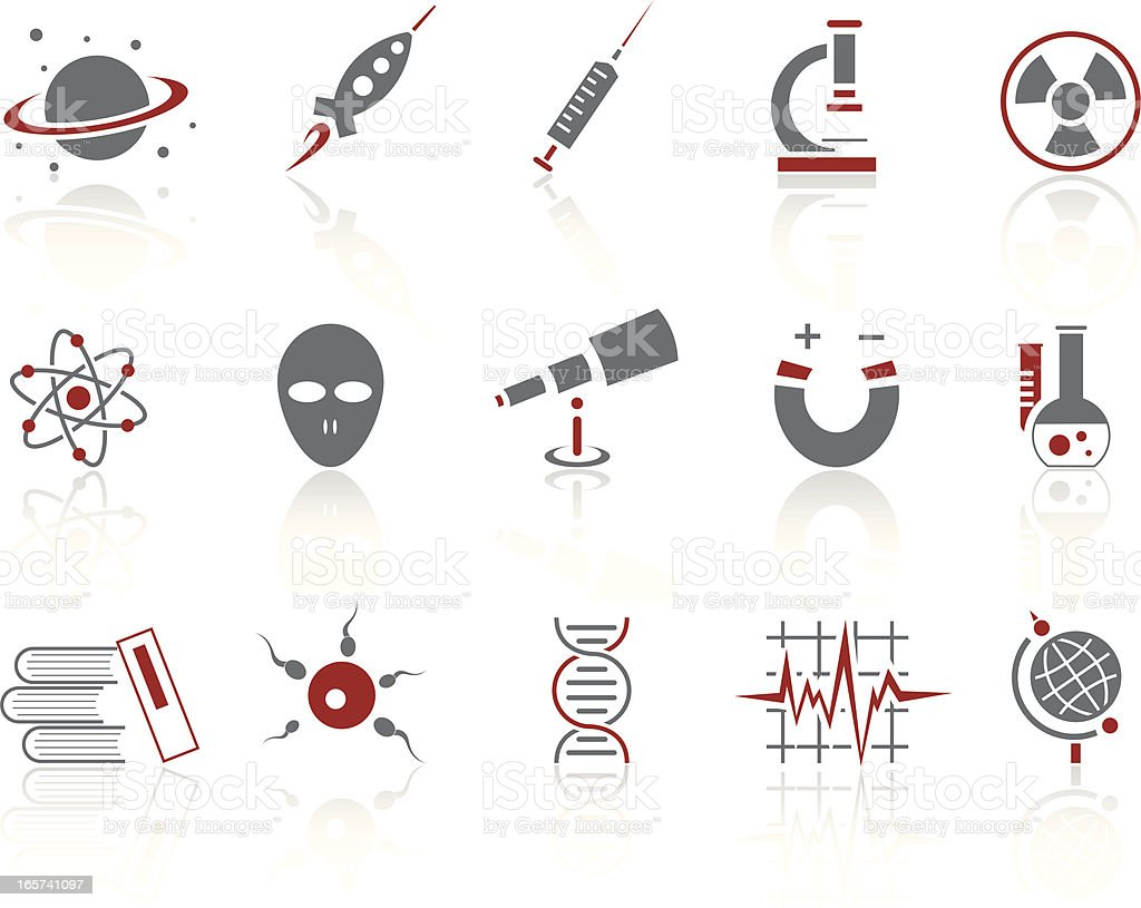 Simple icons- Science royalty-free stock vector art