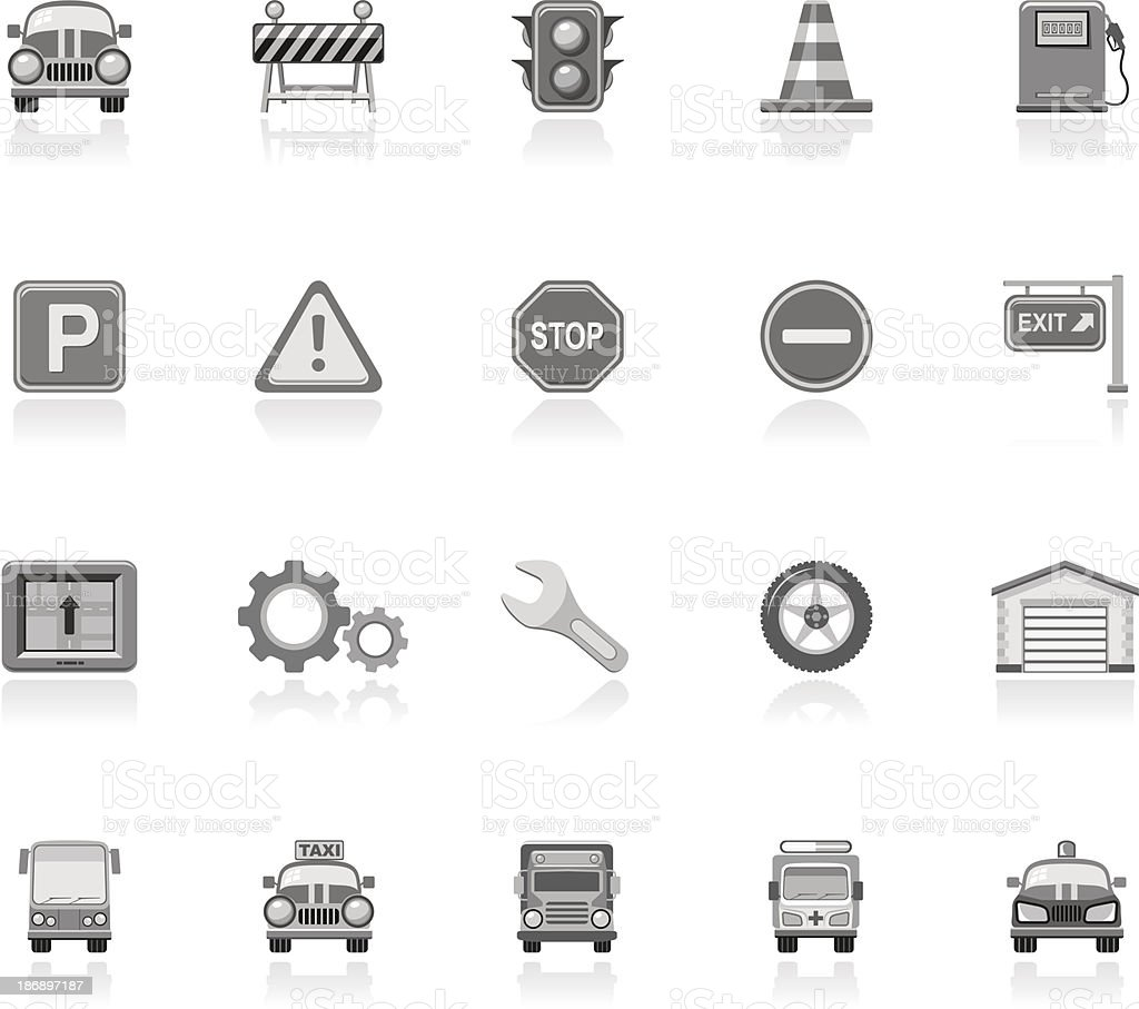 Simple Icons - Traffic royalty-free stock vector art
