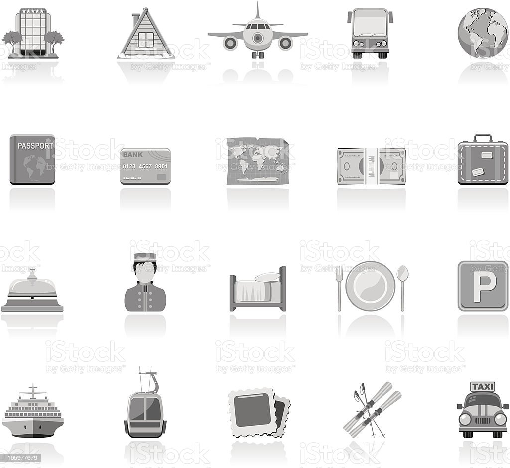 Simple Icons - Vacation vector art illustration