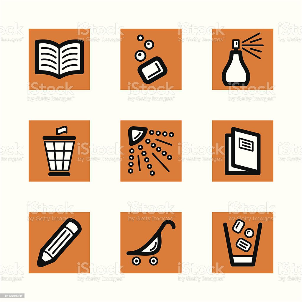 Simple Icons royalty-free stock vector art