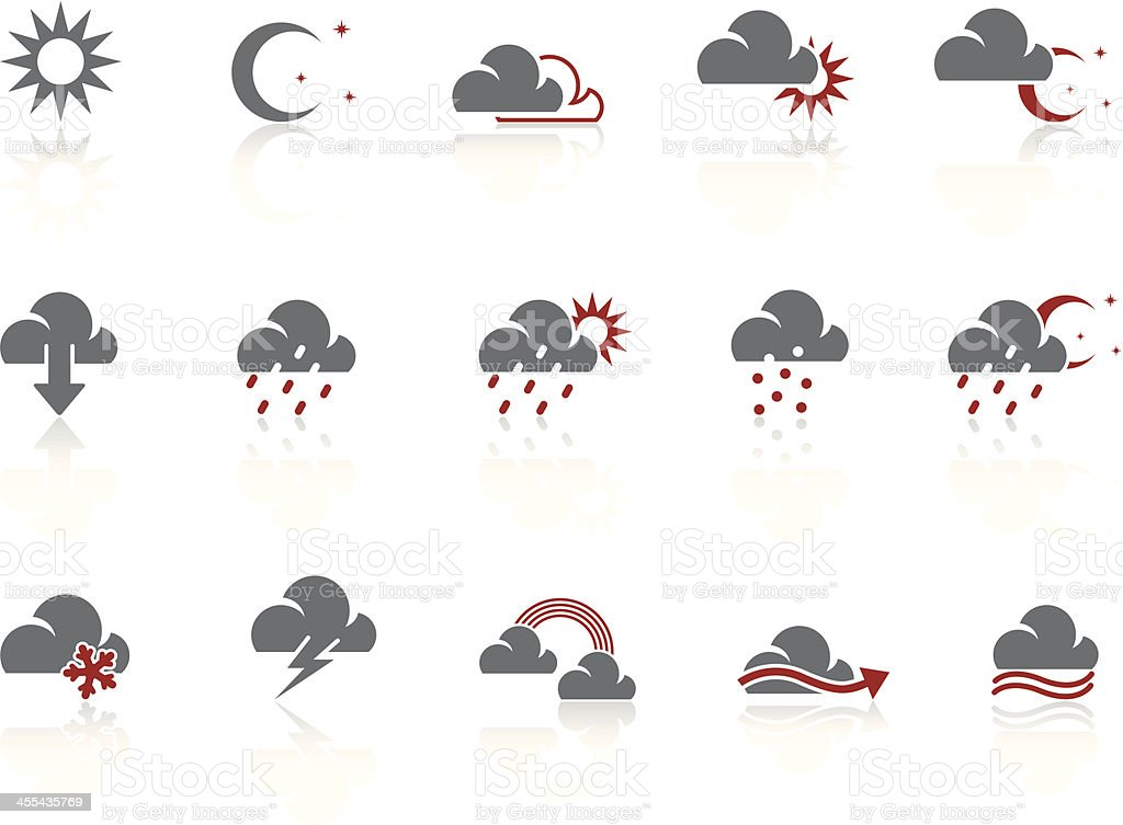 Simple icons – Weather royalty-free stock vector art