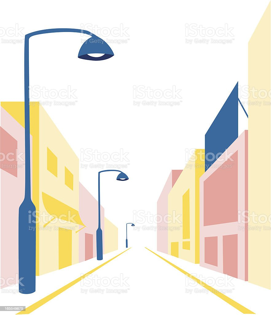 Simple illustration of a street vector art illustration