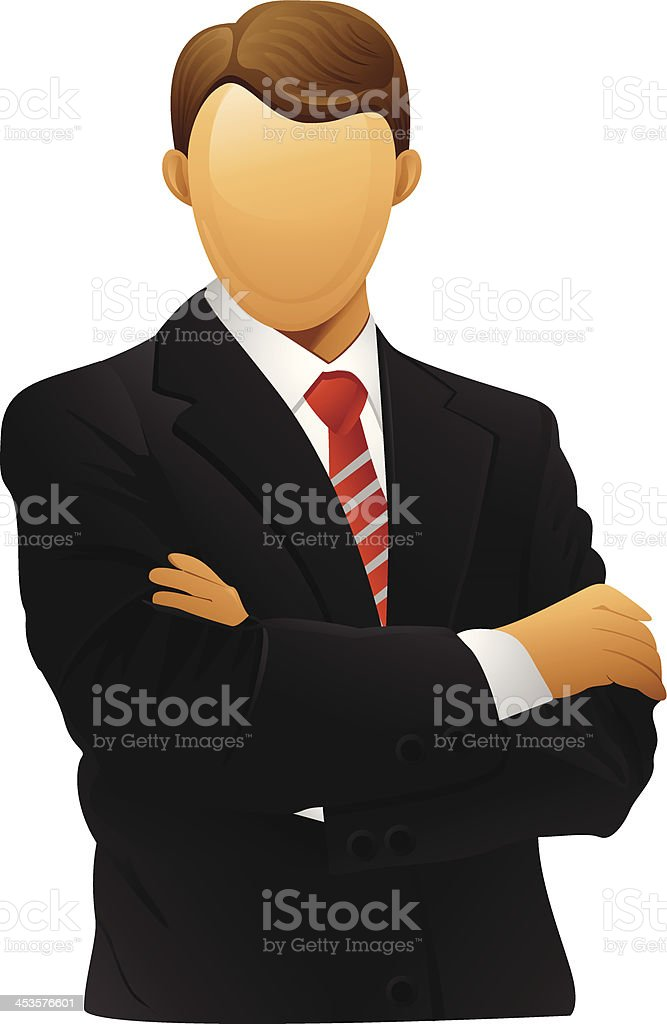 Simple illustration of businessman vector art illustration