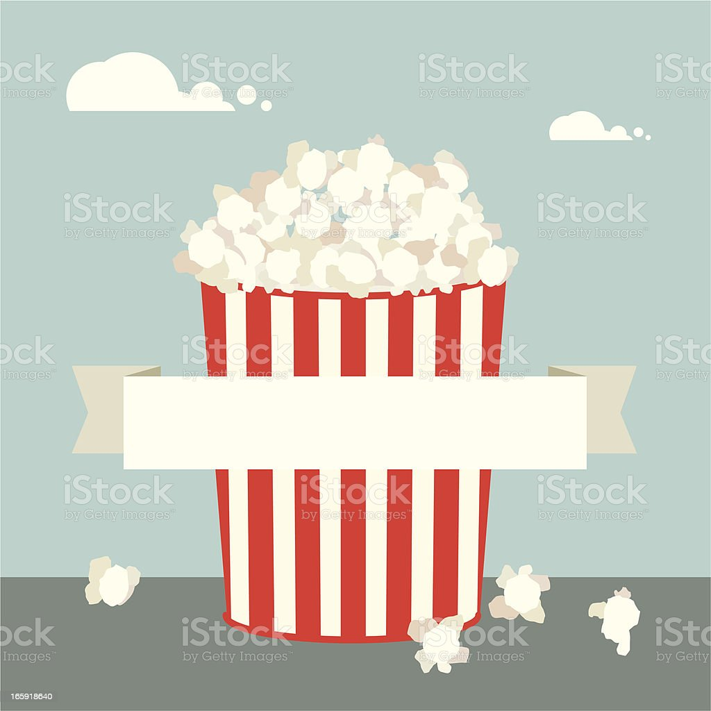 Simple illustration of popcorn royalty-free stock vector art