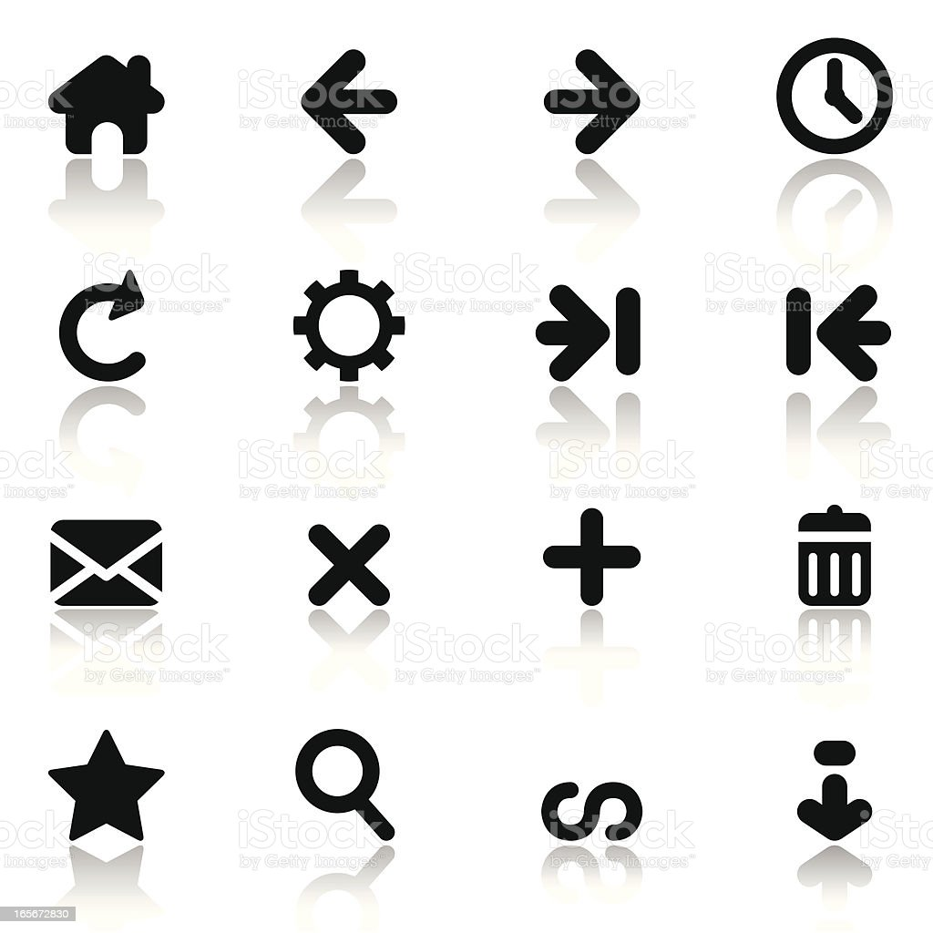Simple Internet Navigation Icons royalty-free stock vector art