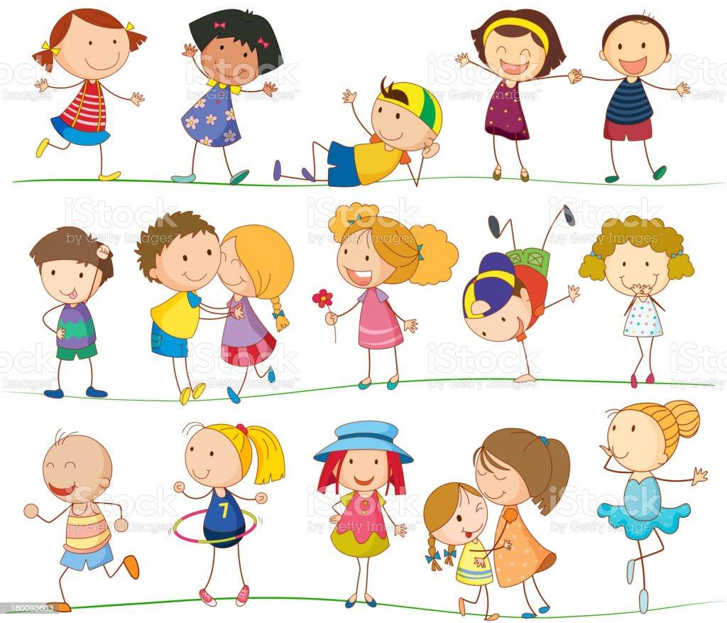 Simple kids vector art illustration