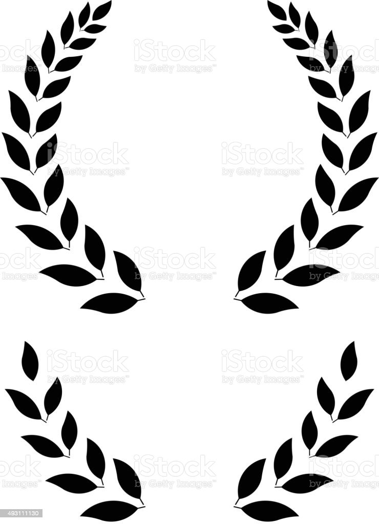 simple laurel wreath - vector illustration vector art illustration