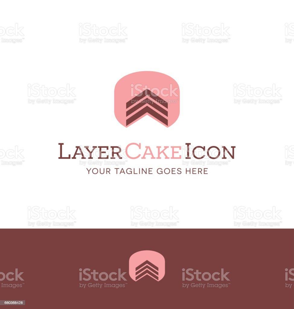 simple layer cake icon. vector illustration. vector art illustration