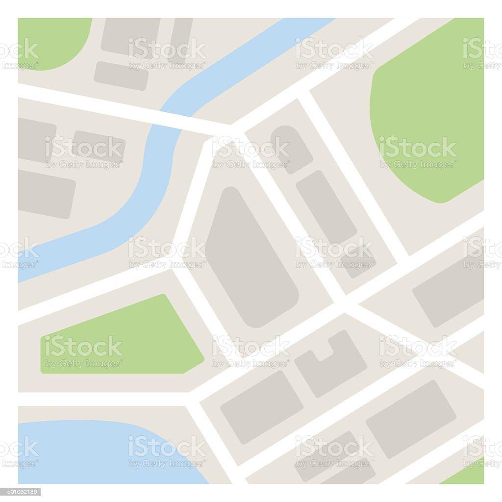 Simple Map Illustration vector art illustration