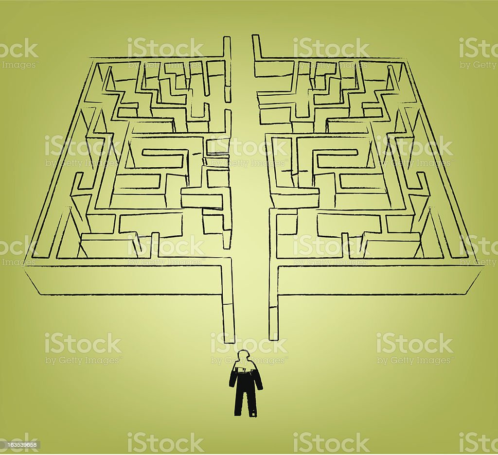 simple maze royalty-free stock vector art