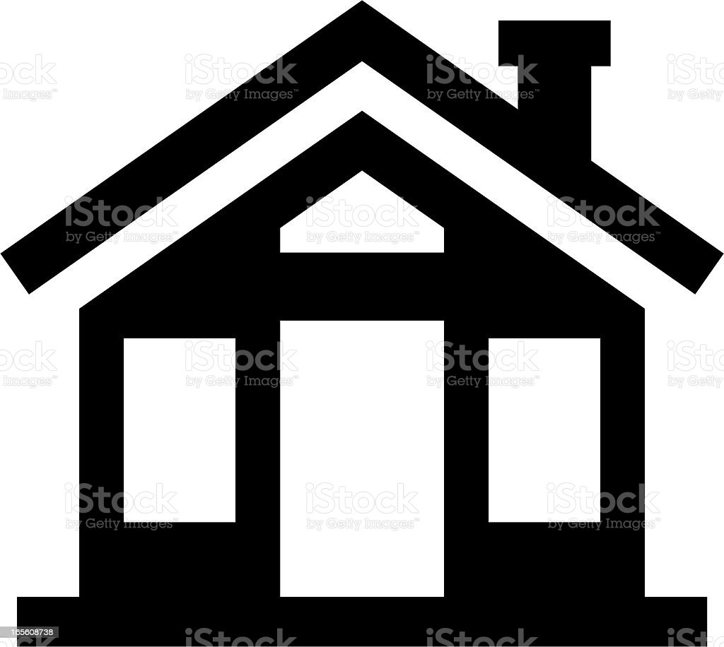simple modern house royalty-free stock vector art