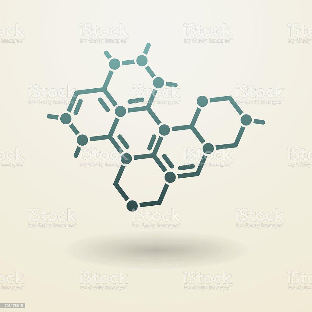 Simple molecule icon vector art illustration