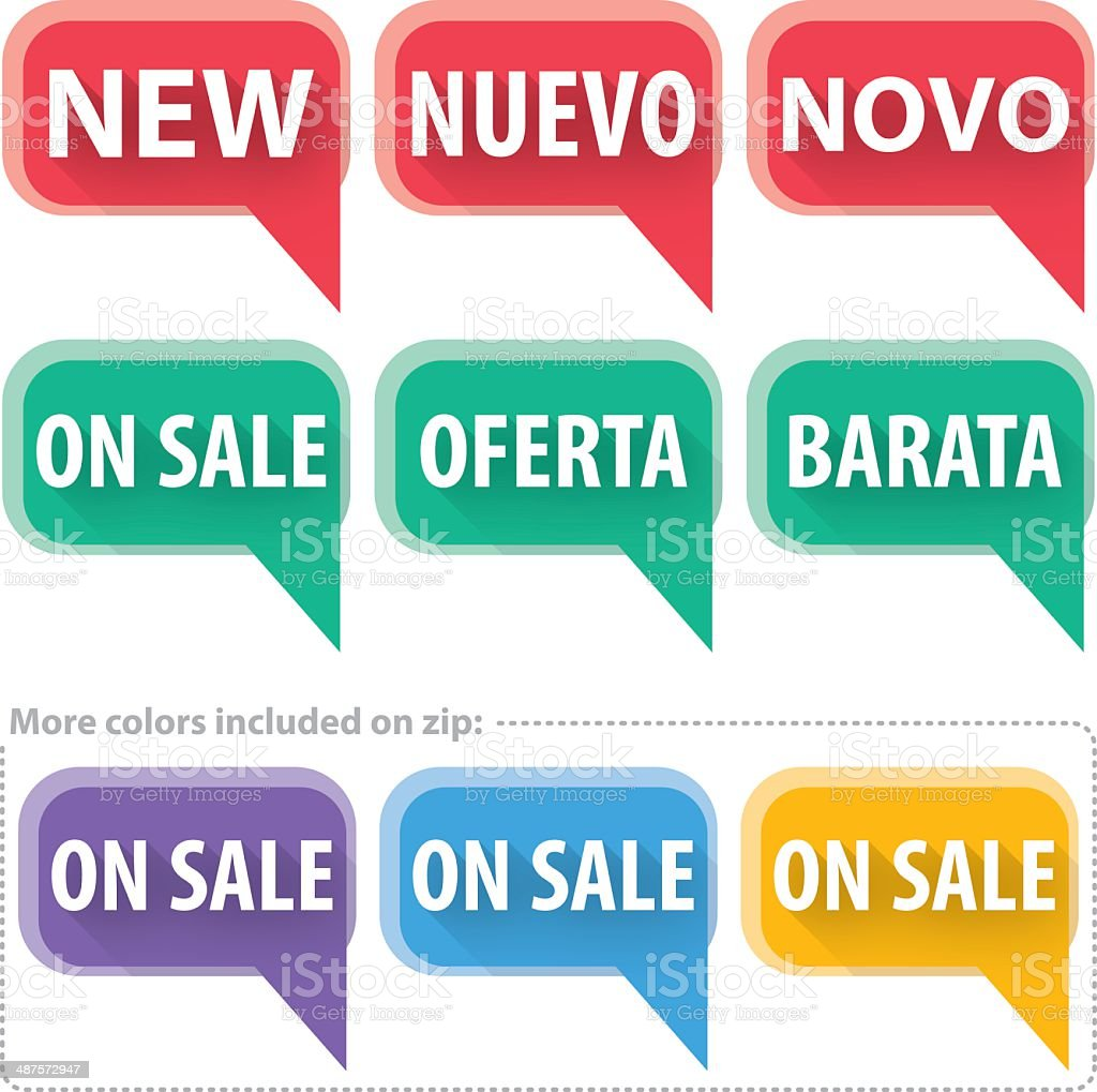 Simple 'New' & 'On Sale' Signs vector art illustration