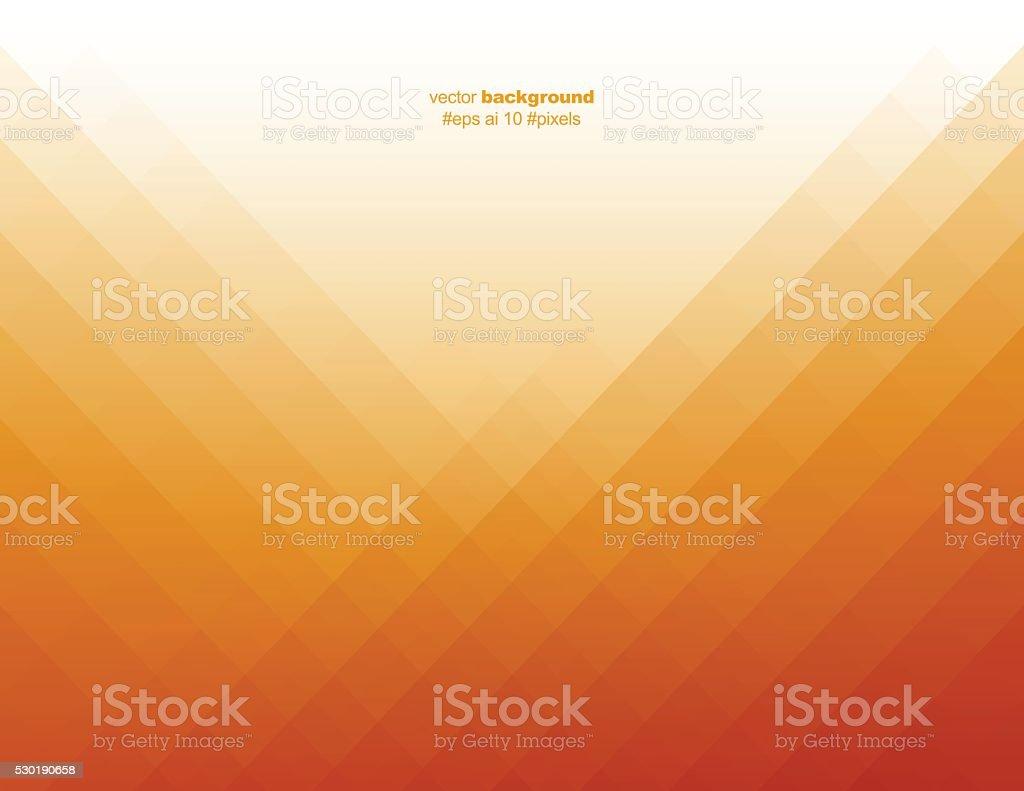Simple orange color pixels background vector art illustration