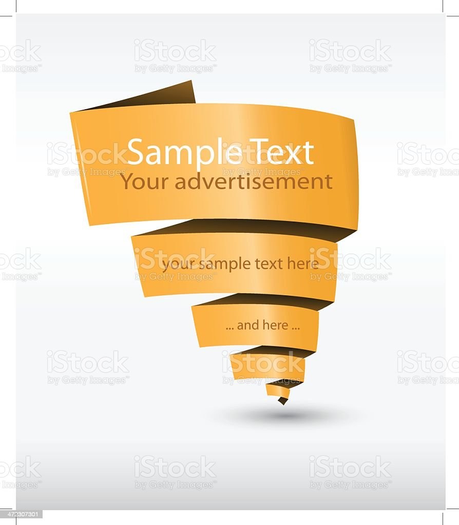 Simple orange web banner with text. royalty-free stock vector art