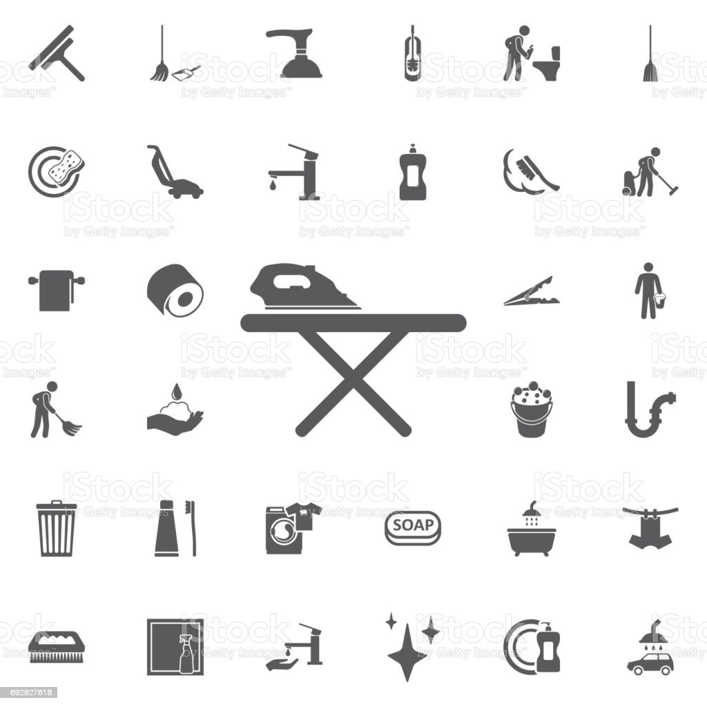 Simple table free other icons - Simple Outline Ironing Table Vector Icon Royalty Free Stock Vector Art