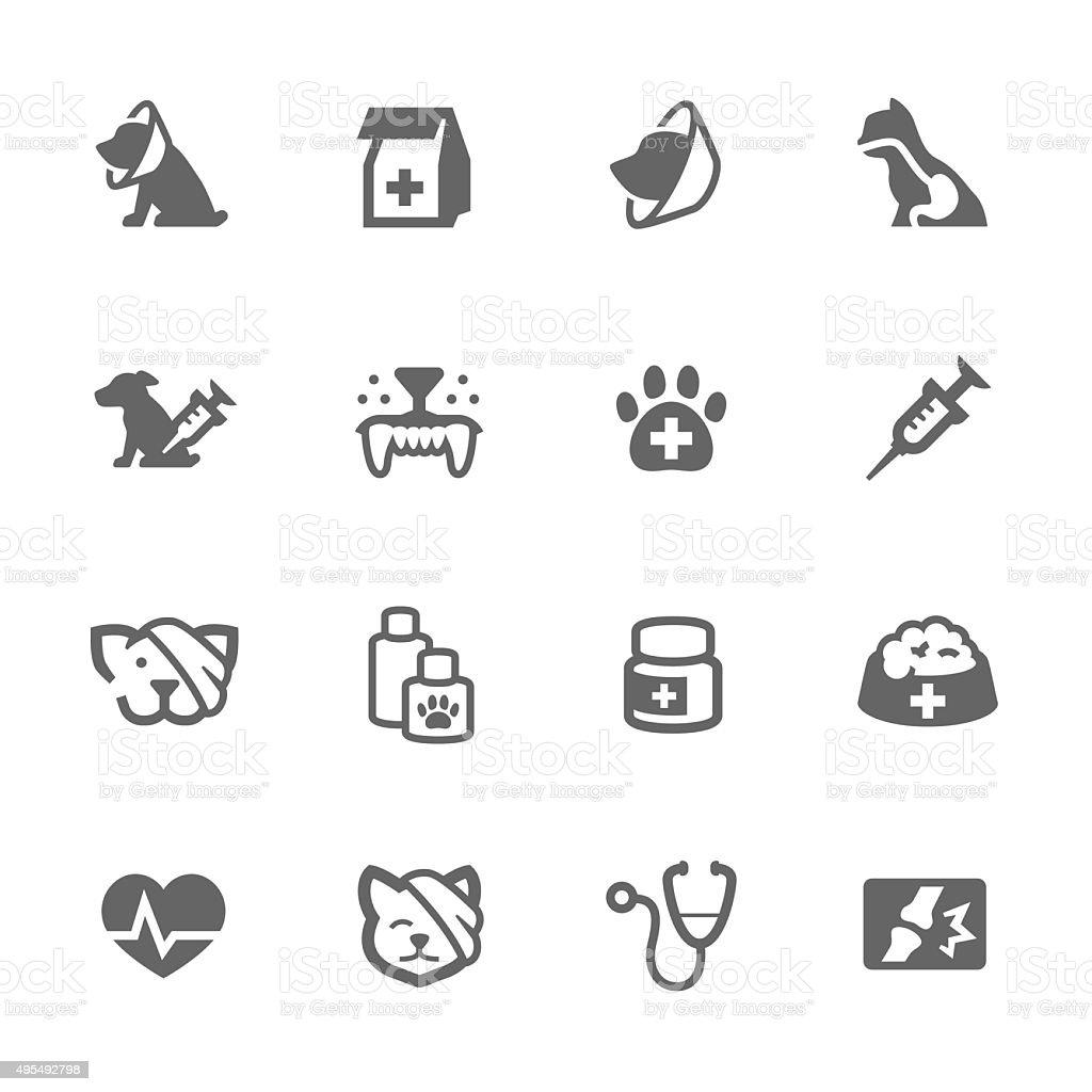 Simple Pet Vet icons vector art illustration