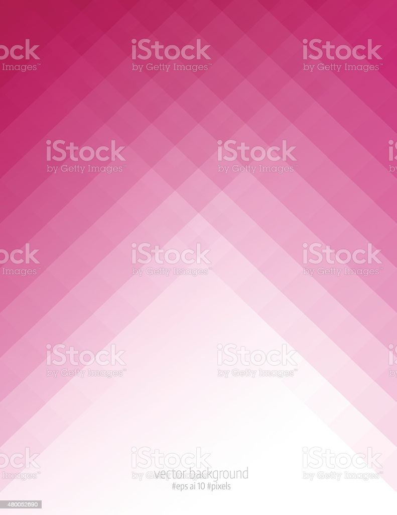 Simple pink pixels background vector art illustration