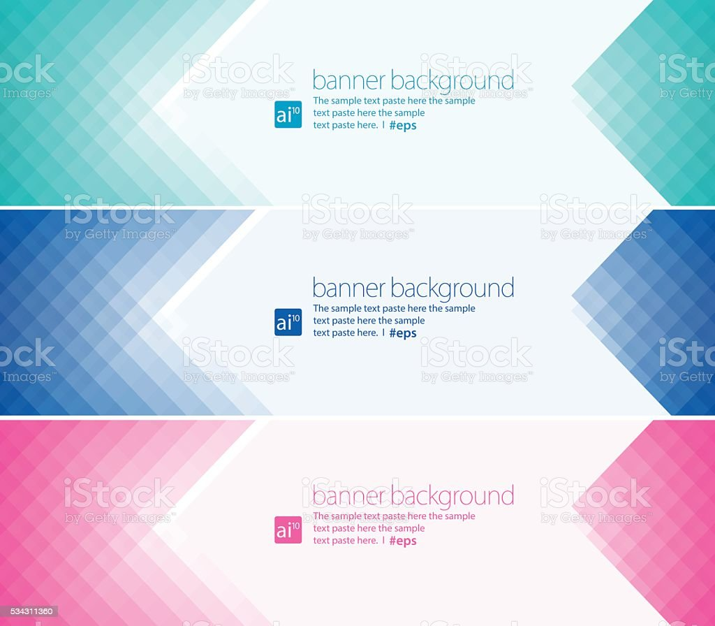 Simple pixels banner background Set vector art illustration