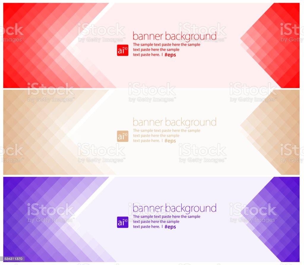 Simple pixels banner background Set vector art illustration