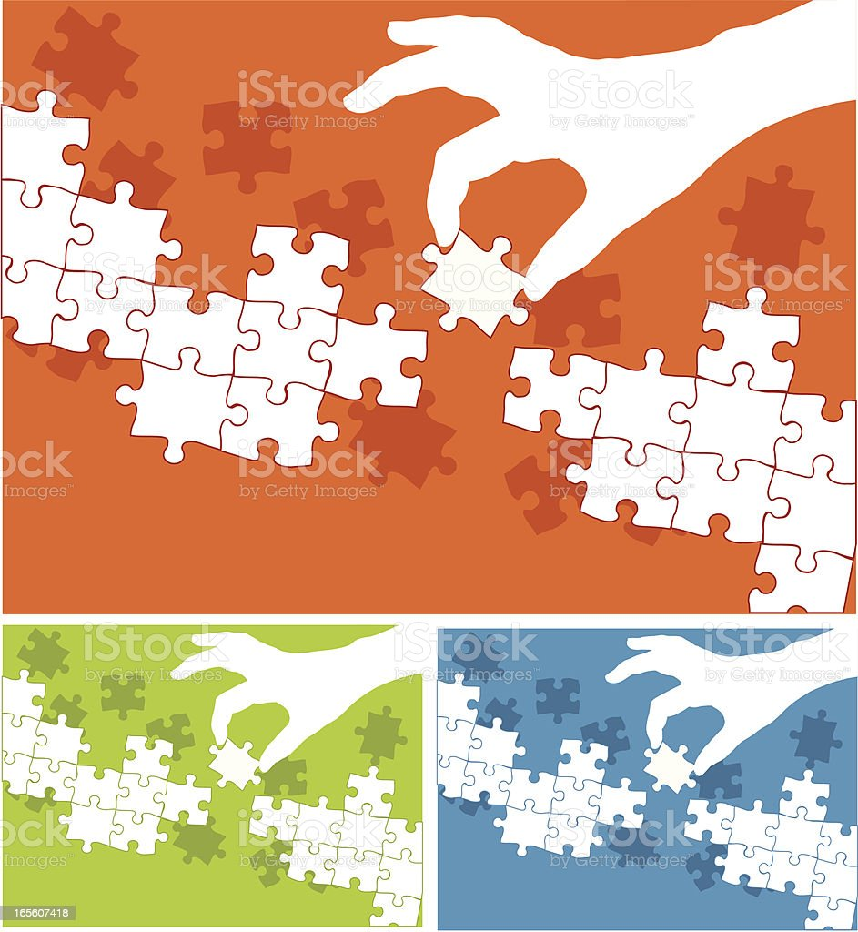 Simple Puzzle Solution royalty-free stock vector art