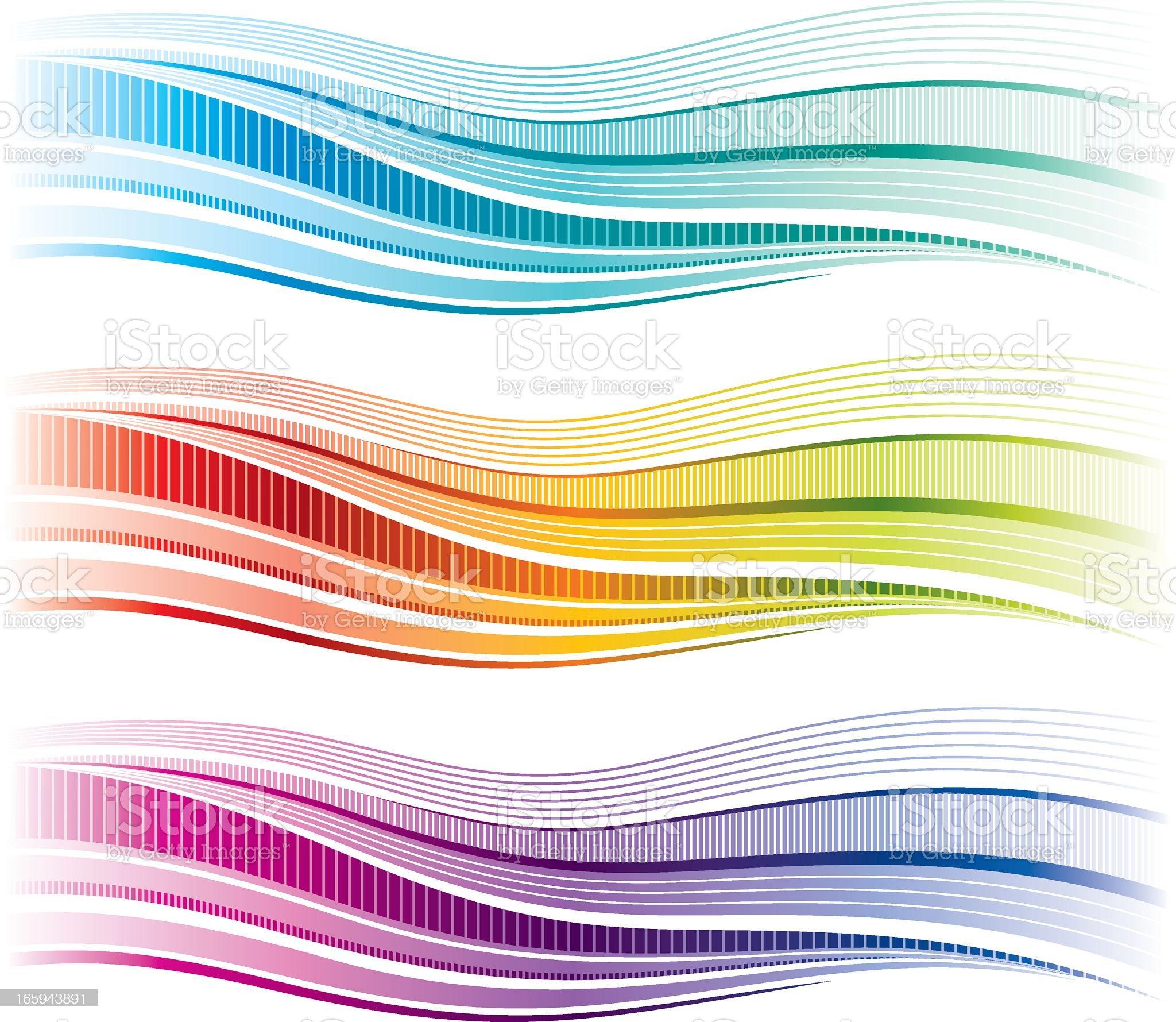 Simple rainbow wave royalty-free stock vector art