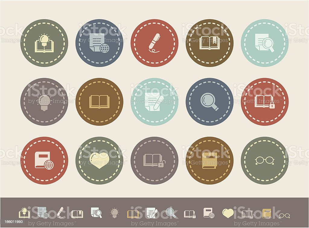 simple reading icons royalty-free stock vector art