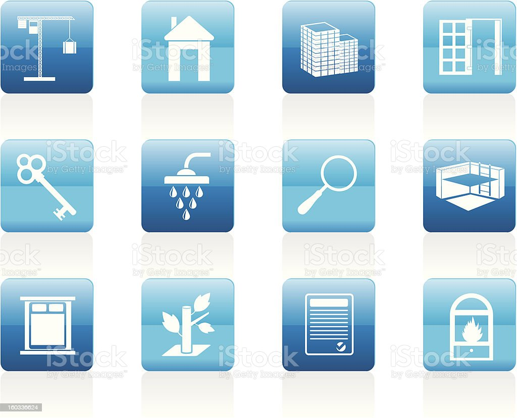 Simple Real Estate icons royalty-free stock vector art