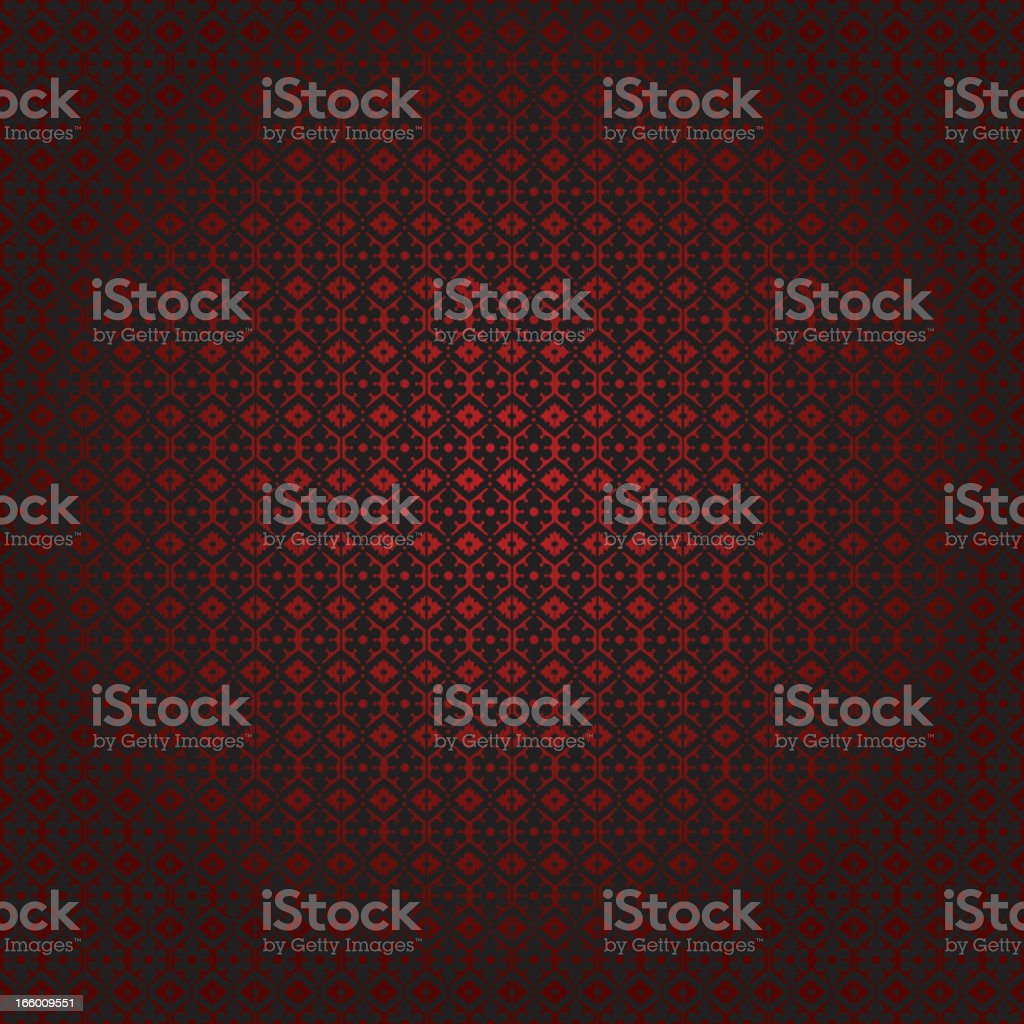 Simple Red Black Damask Seamless Pattern royalty-free stock vector art