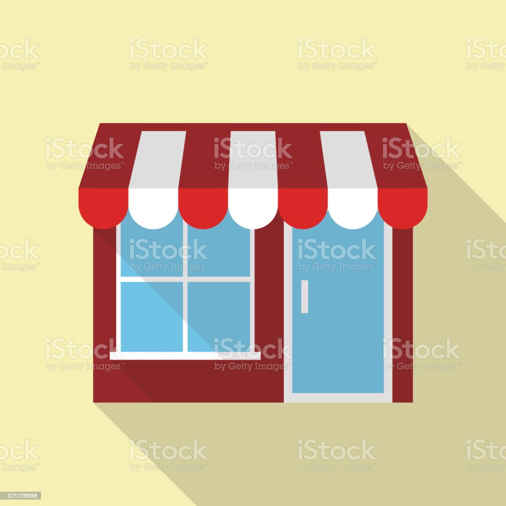 simple restaurant building for food vector art illustration