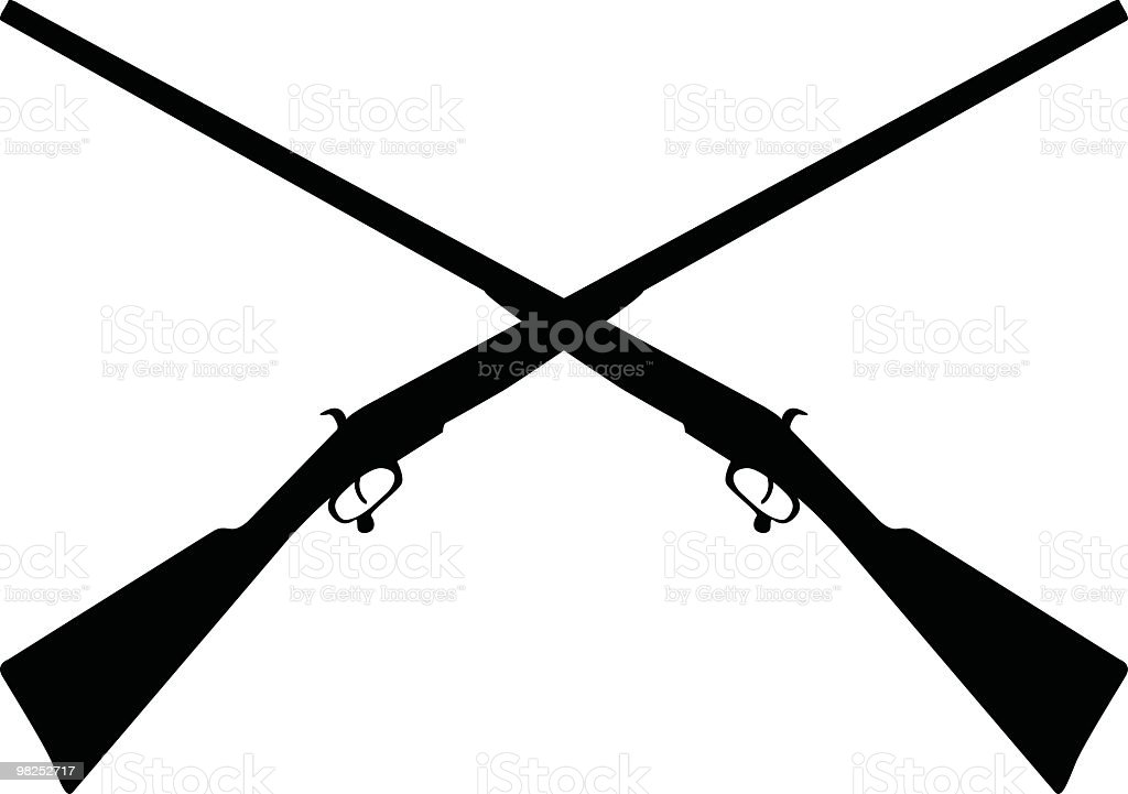 Simple Rifle Silhouette vector art illustration