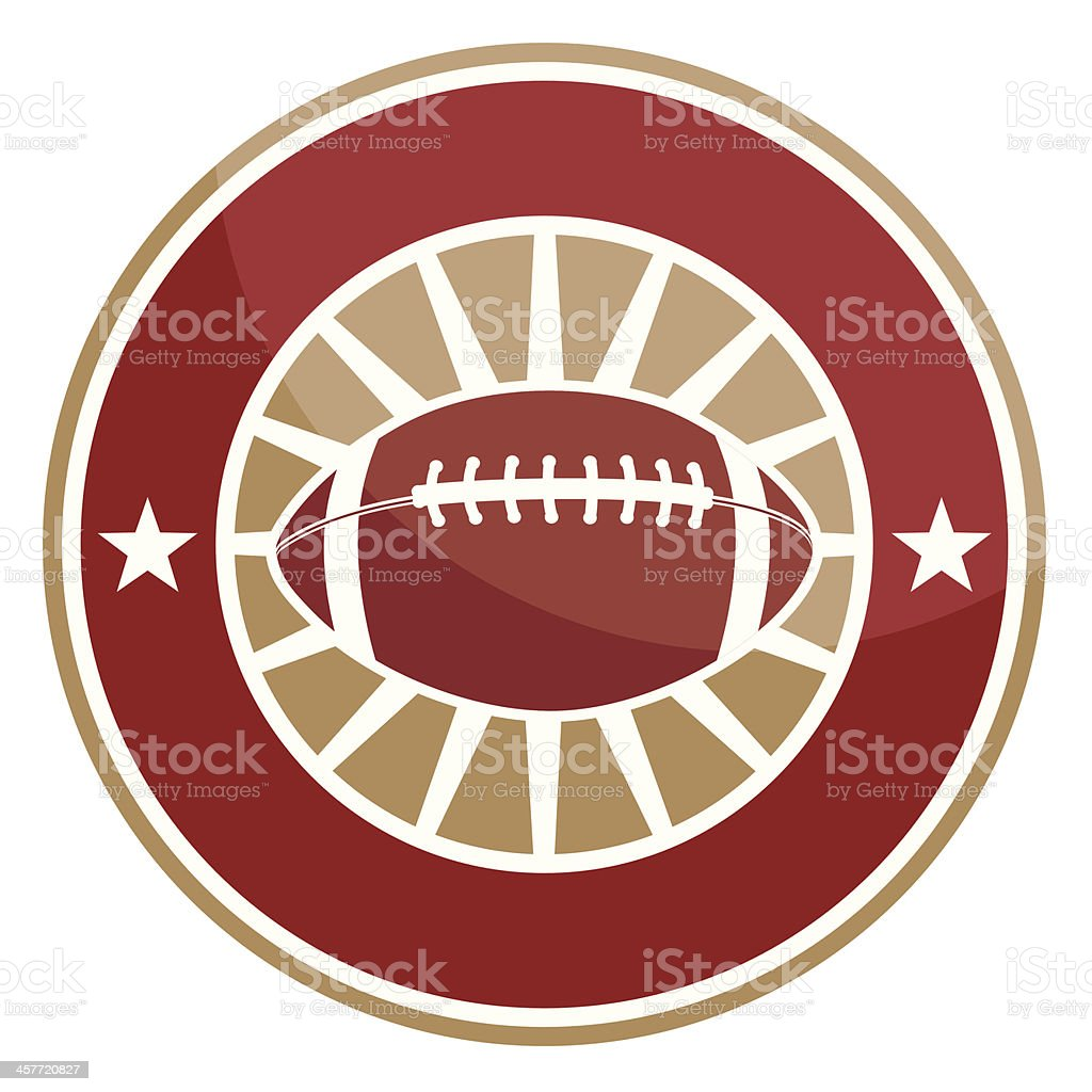 Simple round football logo royalty-free stock vector art