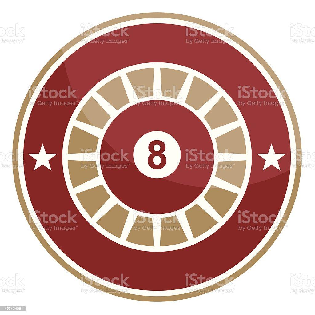 Simple round pool emblem royalty-free stock vector art