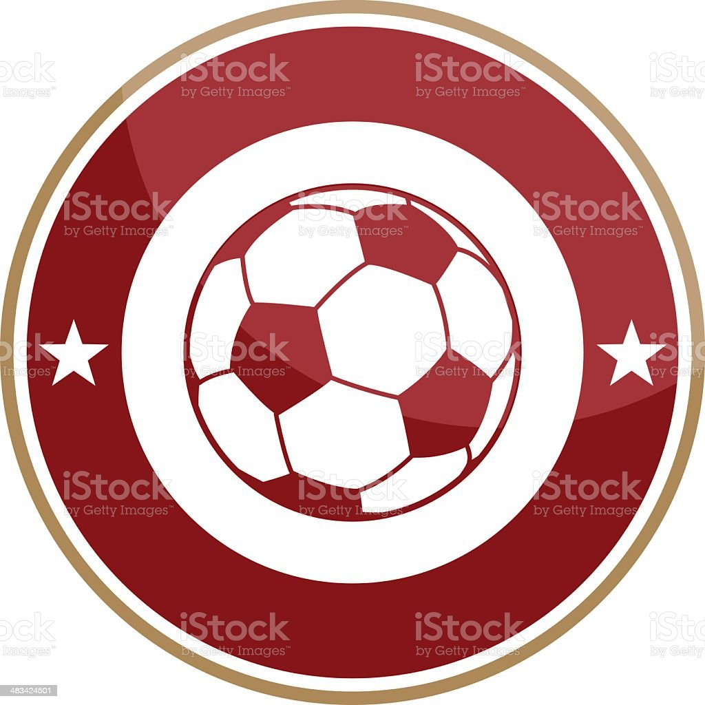 Simple round soccer logo royalty-free stock vector art