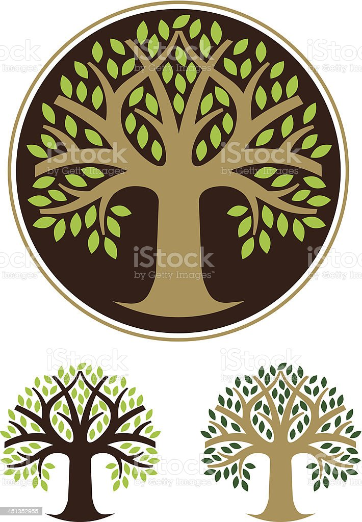 Simple round tree. royalty-free stock vector art