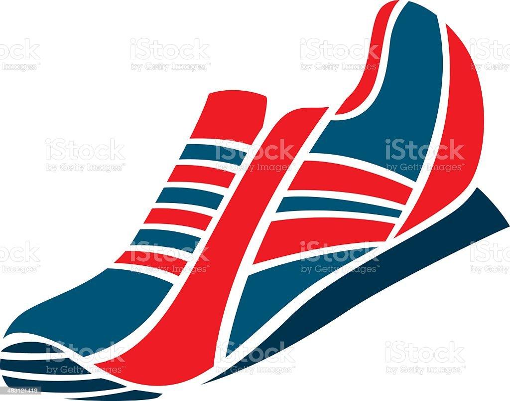 simple running shoe royalty-free stock vector art