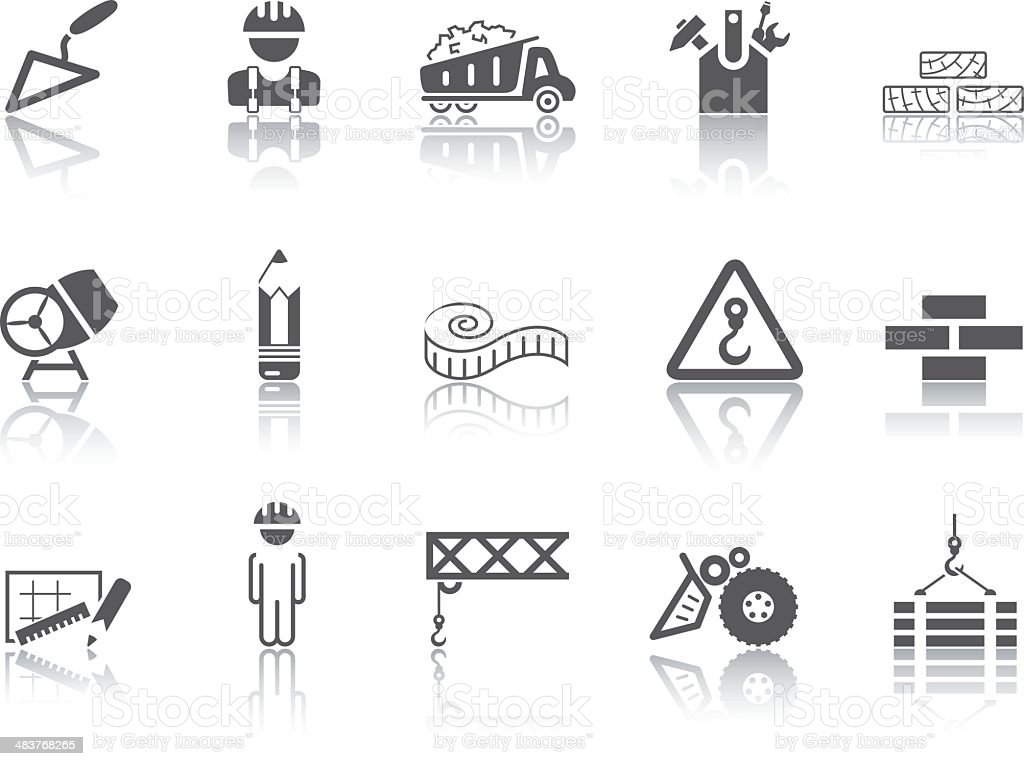 Simple SERIES – Building icons vector art illustration