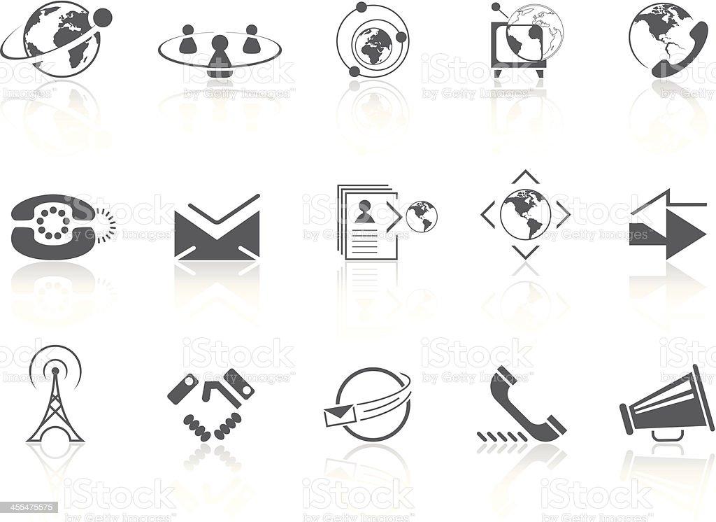 Simple SERIES – Communication vector art illustration