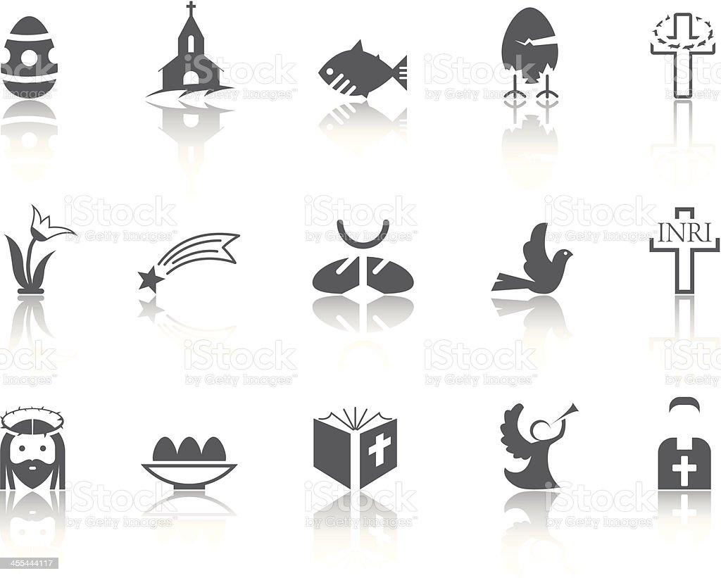 Simple SERIES – Easter royalty-free stock vector art