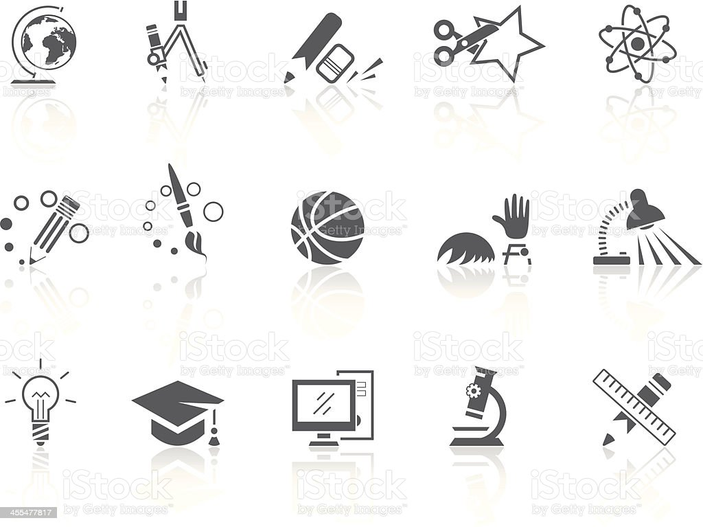 Simple SERIES – Education vector art illustration
