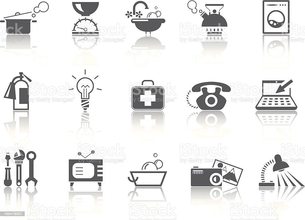 Simple SERIES – Home equipment vector art illustration