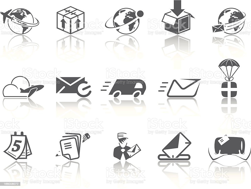 Simple SERIES – Mail & Delivery royalty-free stock vector art