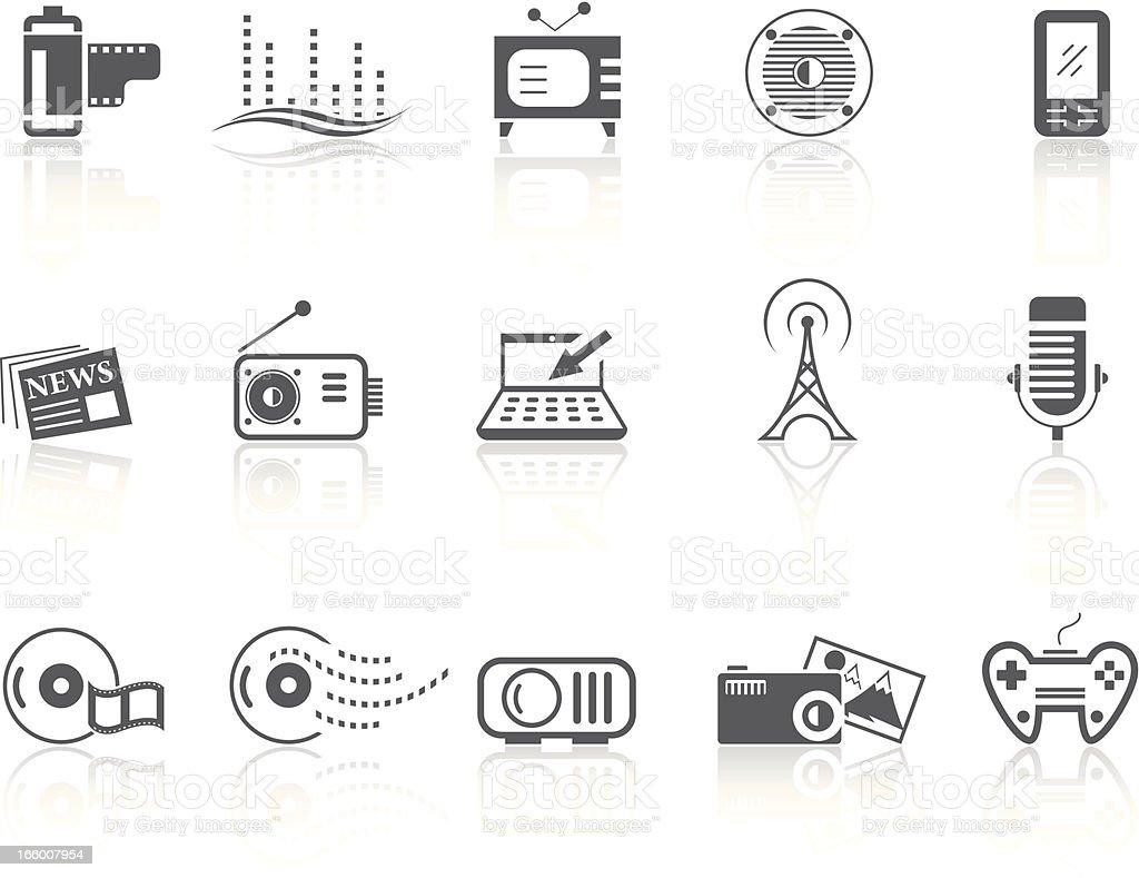 Simple SERIES – Multimedia vector art illustration