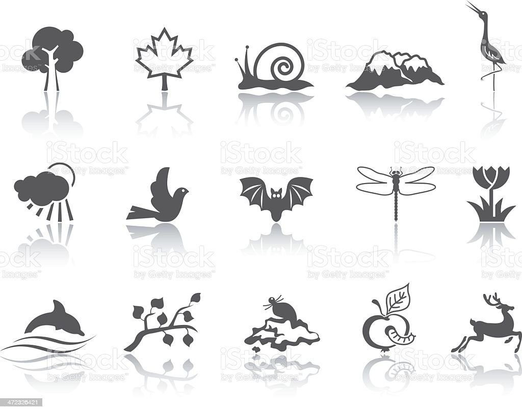 Simple SERIES – Nature royalty-free stock vector art