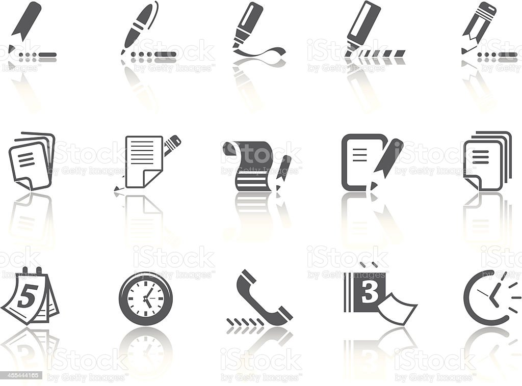 Simple SERIES – Office royalty-free stock vector art