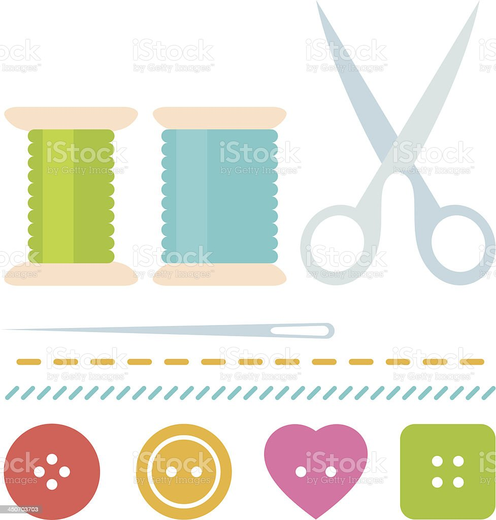 Simple sew set royalty-free stock vector art