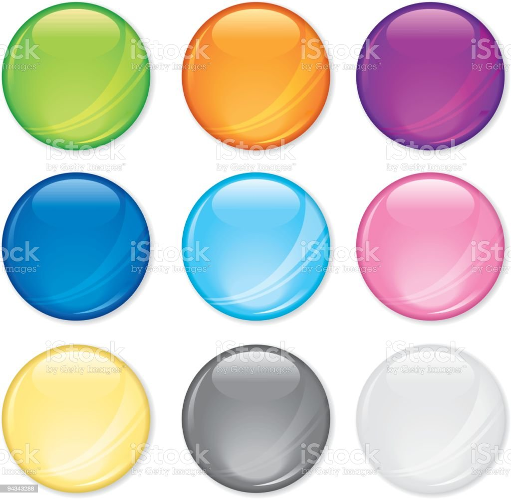 Simple Shiny Buttons royalty-free stock vector art