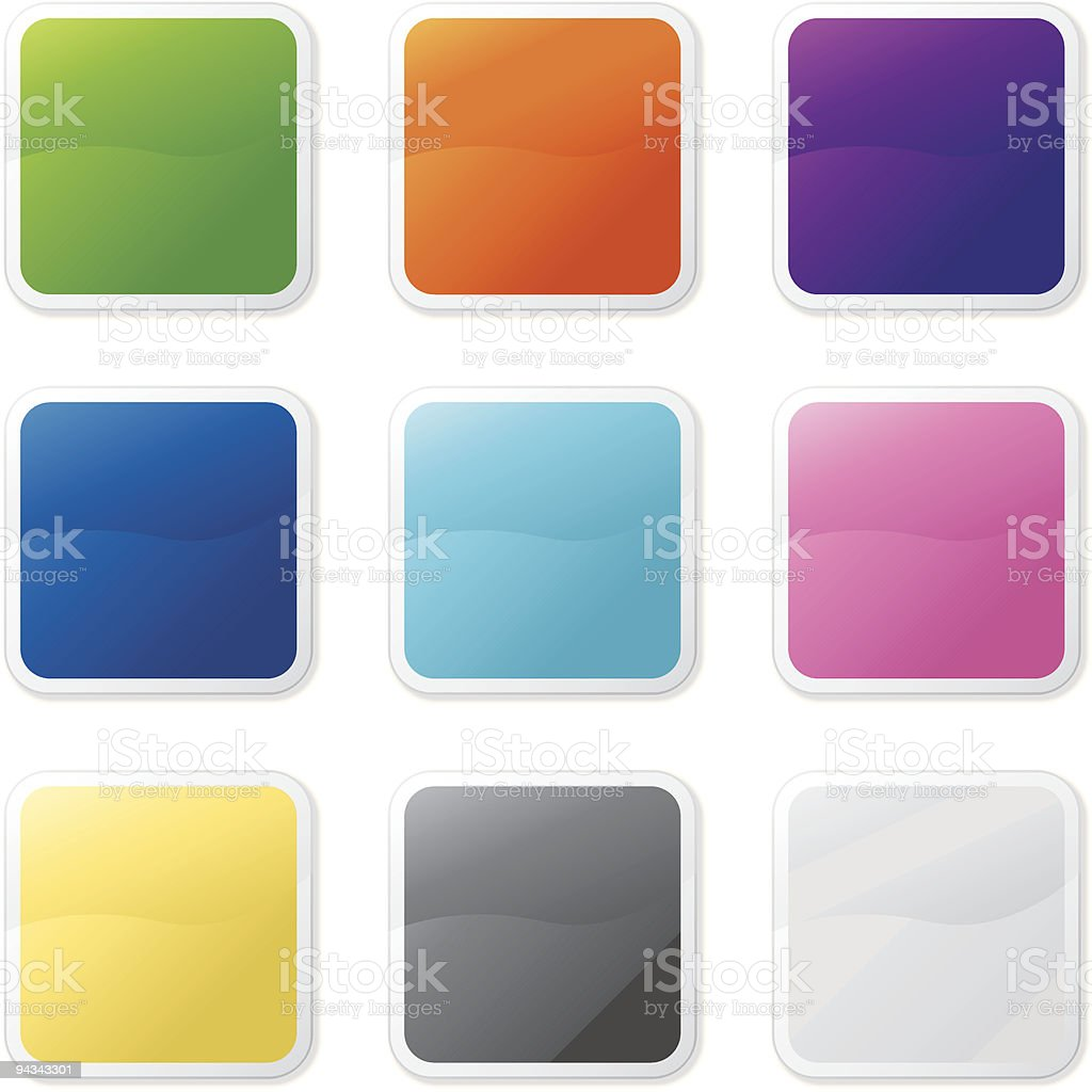 Simple Shiny Stickers royalty-free stock vector art
