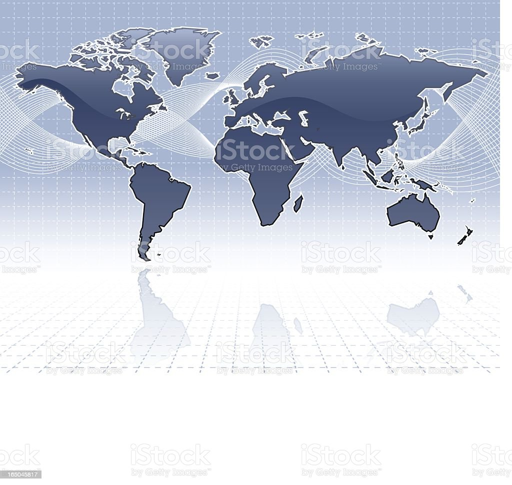 simple shiny world map royalty-free stock vector art